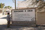 Cartel de bienvenida a Cachi