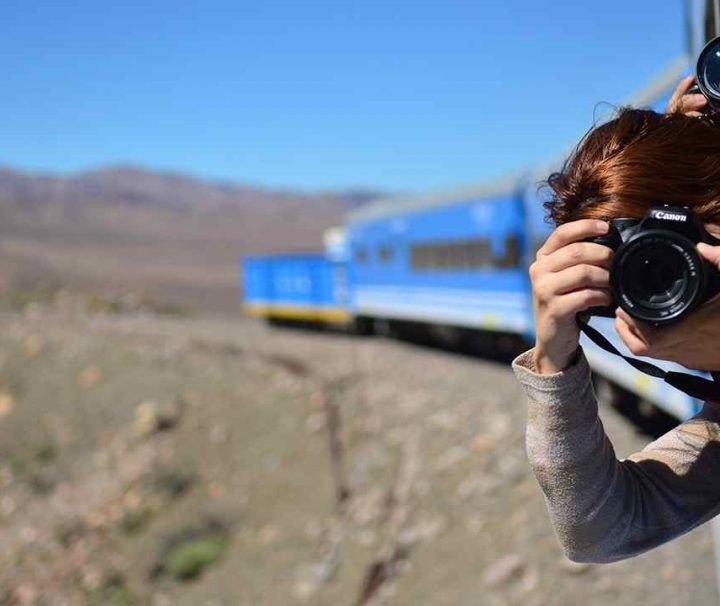 Fotógrafo en el Tren a las Nubes